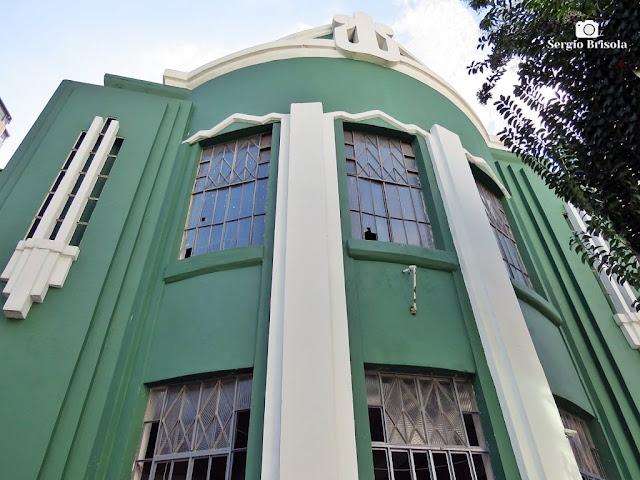 Vista da fachada da Antiga Sede da Sociedade Filarmônica  Lyra - Liberdade - São Paulo