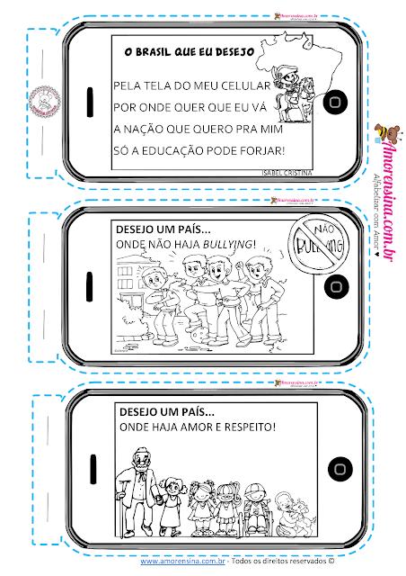 Atividades de alfabetização 1 ano, Livrinho, Dia da Independência do Brasil, Livrinho semana da pátria, Atividades semana da pátria, Alfabetizar com amor, Amorensina,