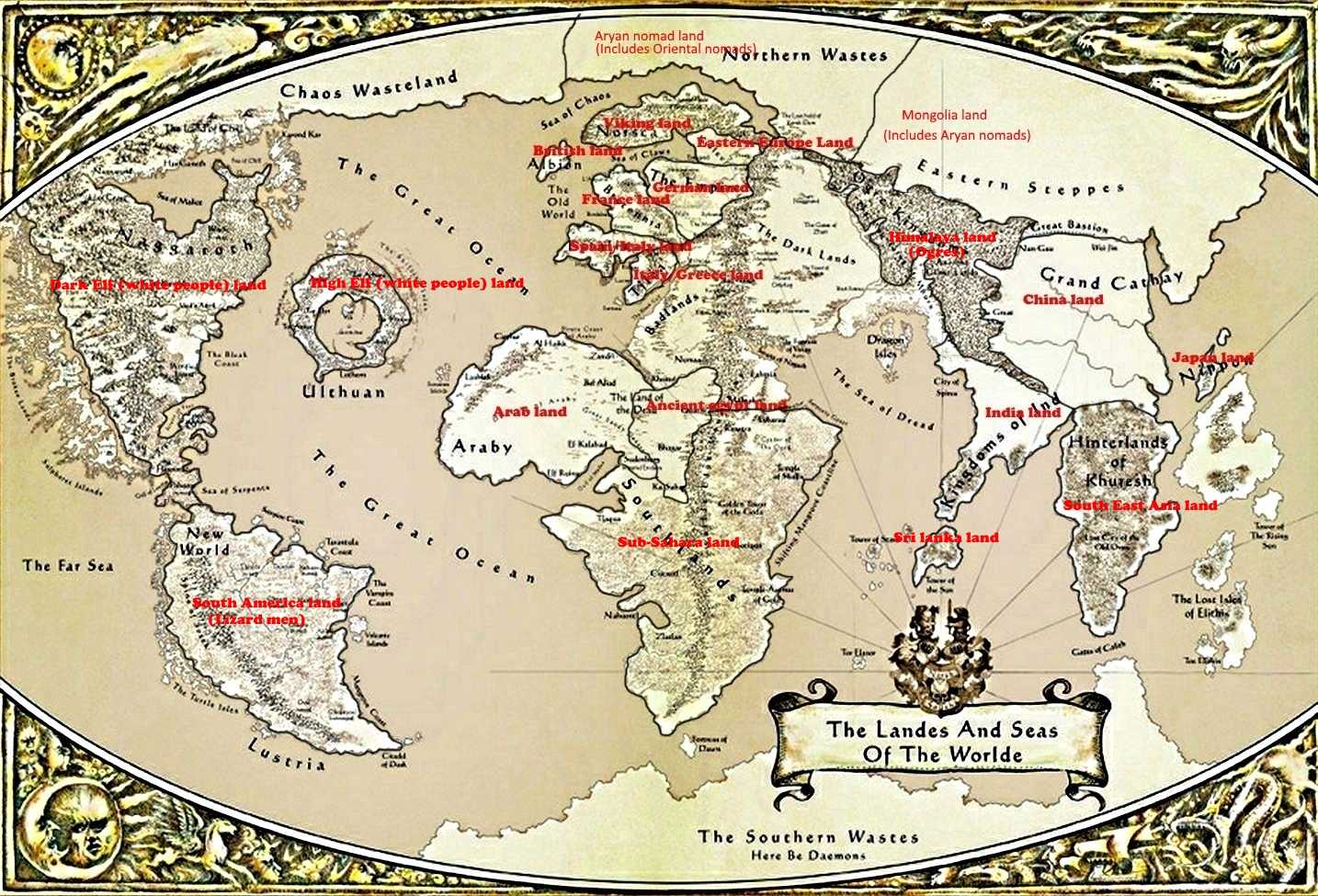Entertainment criticism criticism of warhammer fantasy racism looking at this map what you see are not only a pathetic attempt at making a planet like earth yet not having close to earth diversity gumiabroncs Image collections