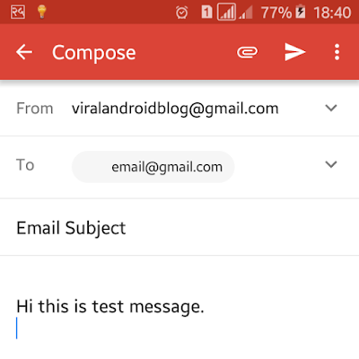Android Example: How to Send Email in Android Application
