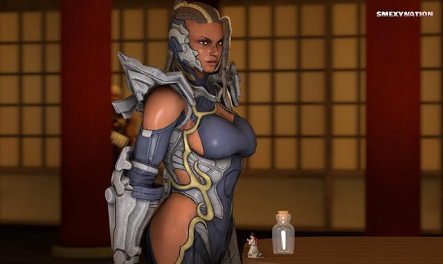Tekken 7 giantess Master Raven and Kazumi