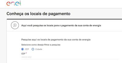 Imagem do Buscador dos endereços das lojas de atendimento da Enel São paulo