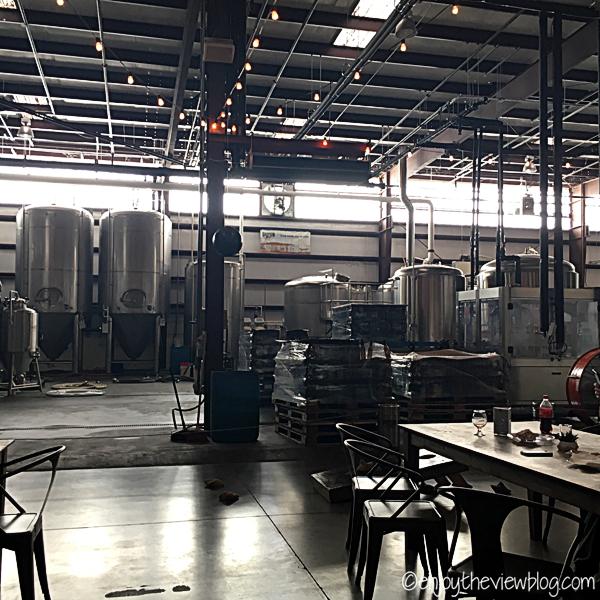 taproom & fermentor tanks