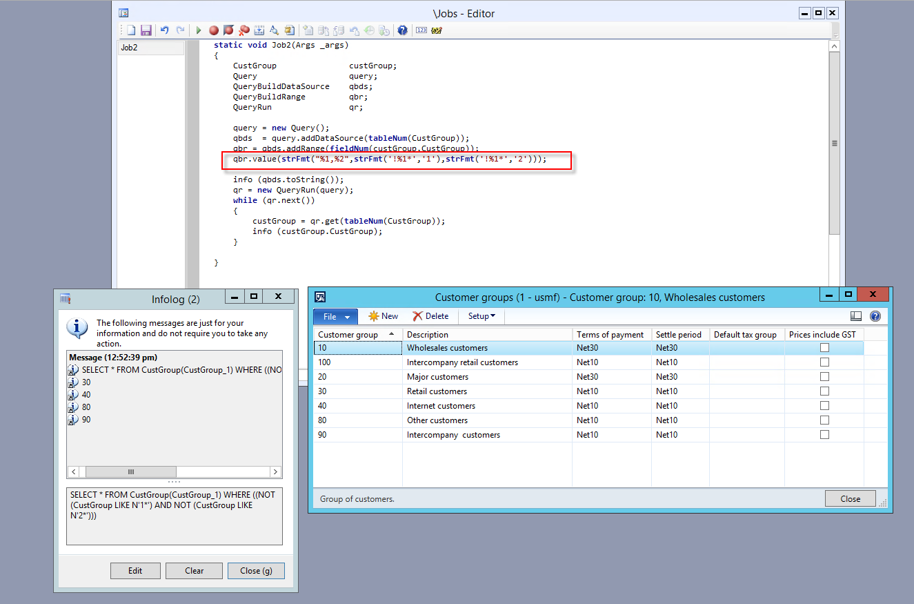 Dynamics AX blog: Using NOT LIKE in X++ select statements