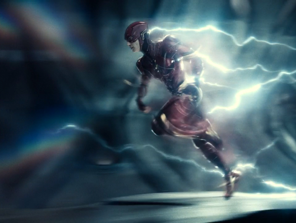 The Flash runs at the speed of light in ZACK SNYDER'S JUSTICE LEAGUE.