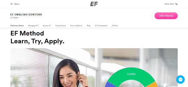 Halaman Beranda EF Adults Kursus Bahasa Inggris Profesional