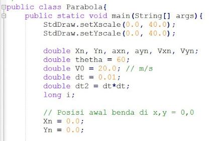 Simulasi Gerak Parabola Sederhana Menggunakan Bahasa Java