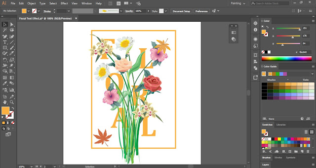 Floral Text Effect in Adobe Illustrator