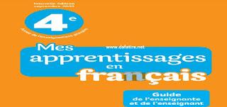 دليل الأستاذة والأستاذ  Mes apprentissages en français  للمستوى الرابع ابتدائي طبعة 2019