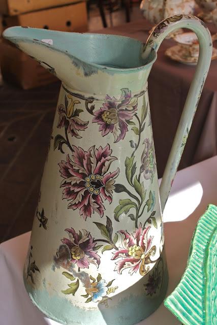 pretty enamel jug