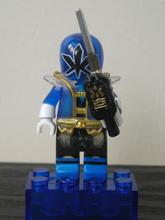 Power Rangers Super Samurai Mega Bloks Translucent Super Blue Ranger 04