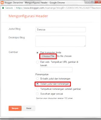 mengganti judul blog