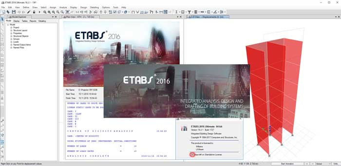 برنامج ايتابس اخر نسخة 2019 ETABS Ultimate v16.2.1  x64