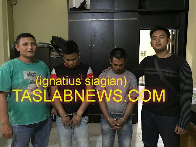 Dua tersangka narkoba di Tanjungbalai.