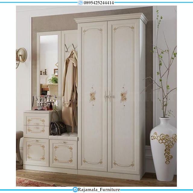 New Lemari Baju Minimalis Putih Duco Luxury Design Classic RM-0373