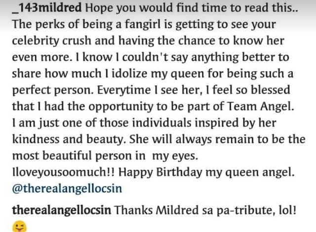 Angel Locsin Responds To The Sweet Birthday Greetings From Her Fans