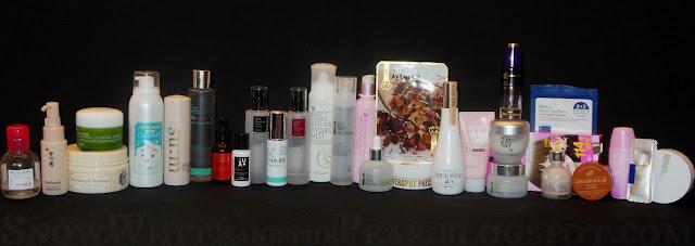 Multi step Korean skin care routine