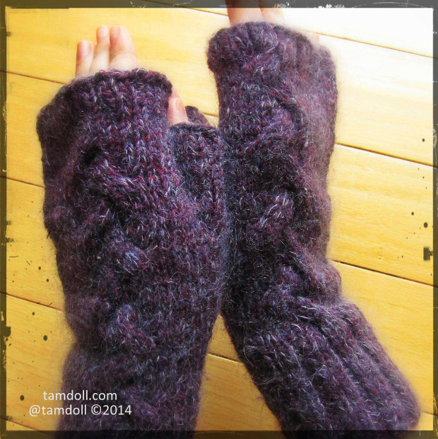 Tamdoll not reaching for perfection with purple mittens