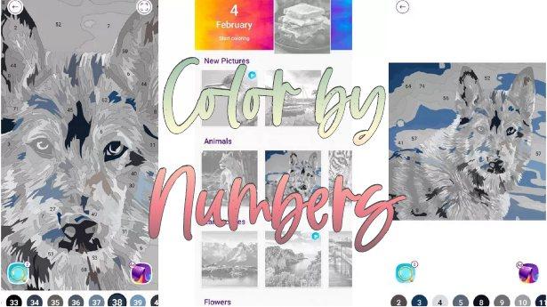 Color by Number - Μία χαλαρωτική δωρεάν εφαρμογή ζωγραφικής με αριθμούς