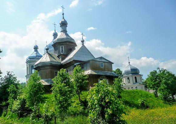 Тисов. Свято-Введенский храм 1783 г. и 2013 г.