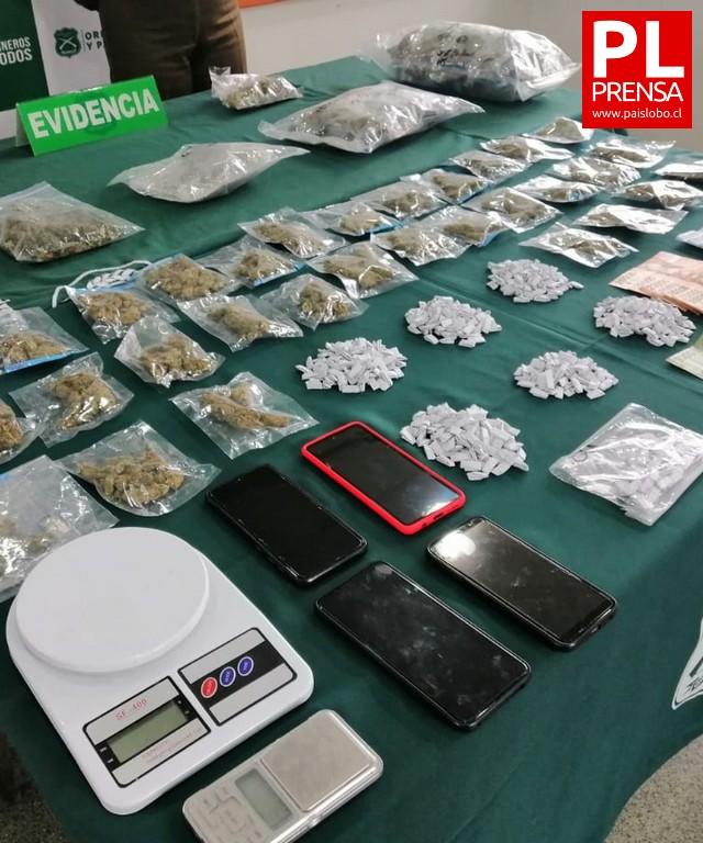 Osorno: Carabineros decomisa drogas, vehículo y dinero