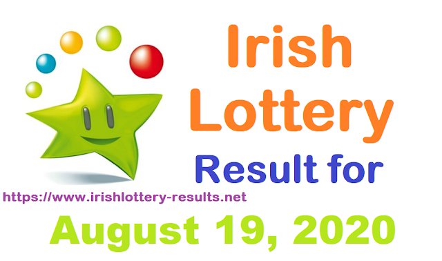 Irish Lottery Results for Saturday, August 19, 2020