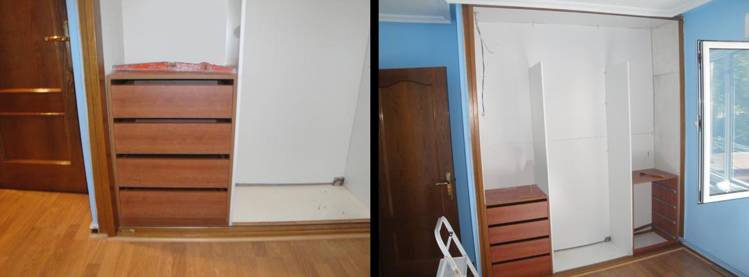 Dormitorio muebles modernos vestir armario empotrado for Forrar interior armario