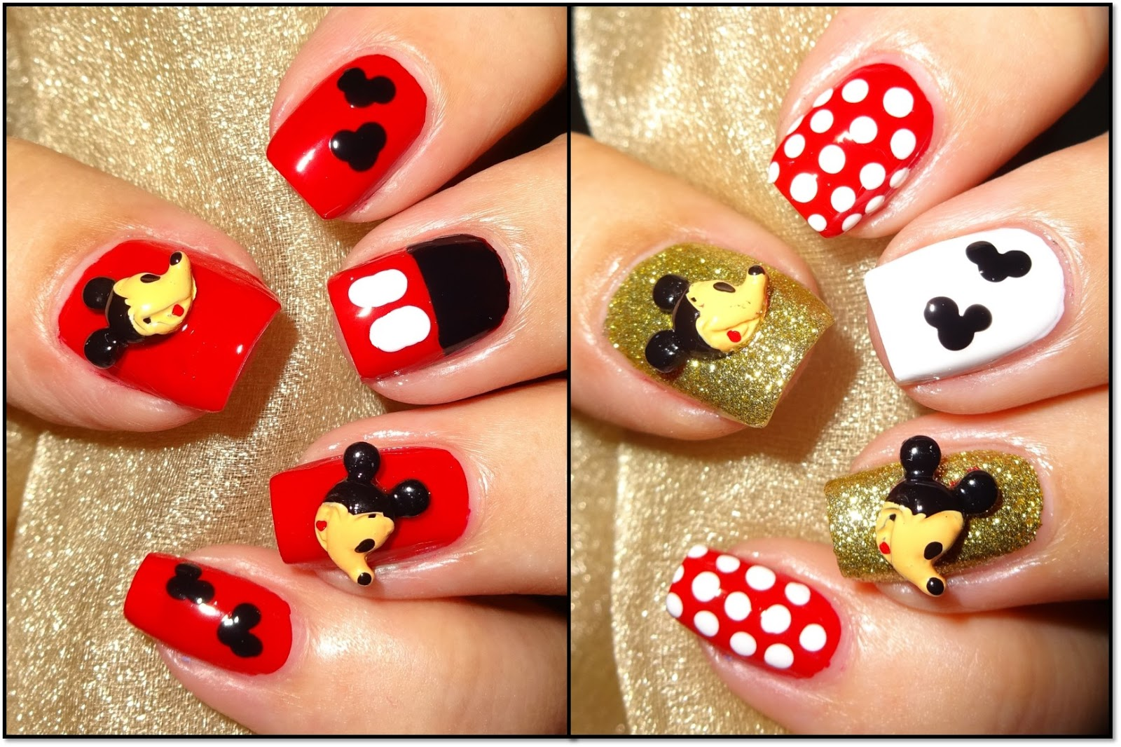 Wendy\'s Delights: Mickey Mouse 3D Nail Decorations from Charlies ...