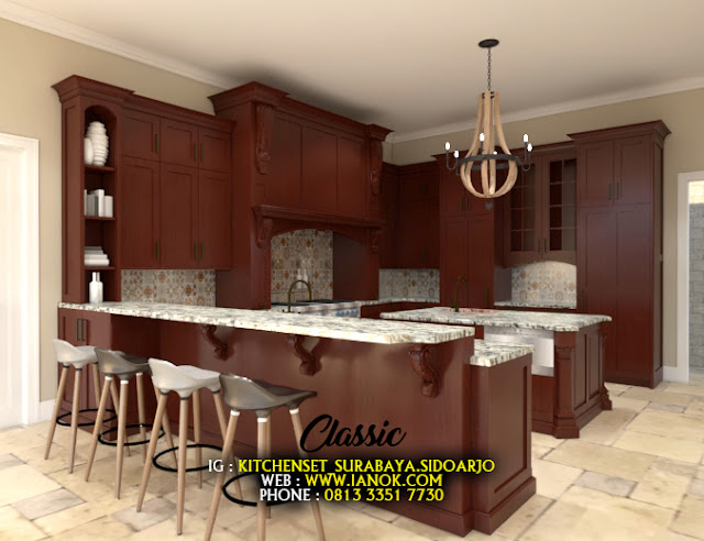 kitchen set klasik sidoarjo