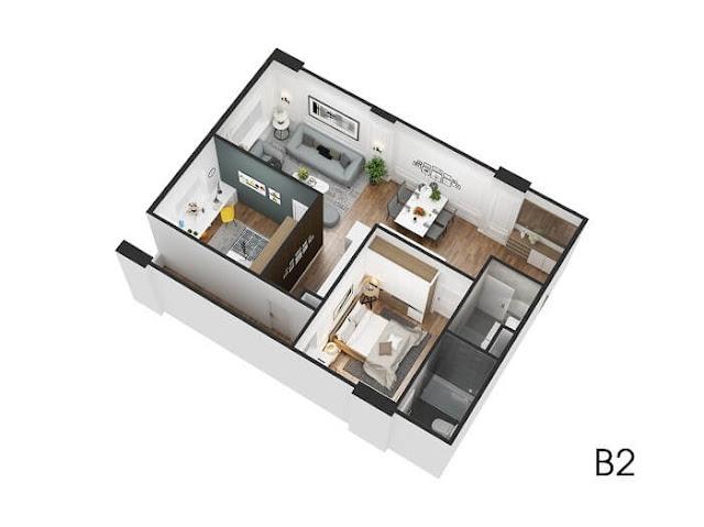 Căn hộ 2 phòng ngủ Ecocity Long Biên.