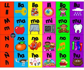 silabario a color pdf