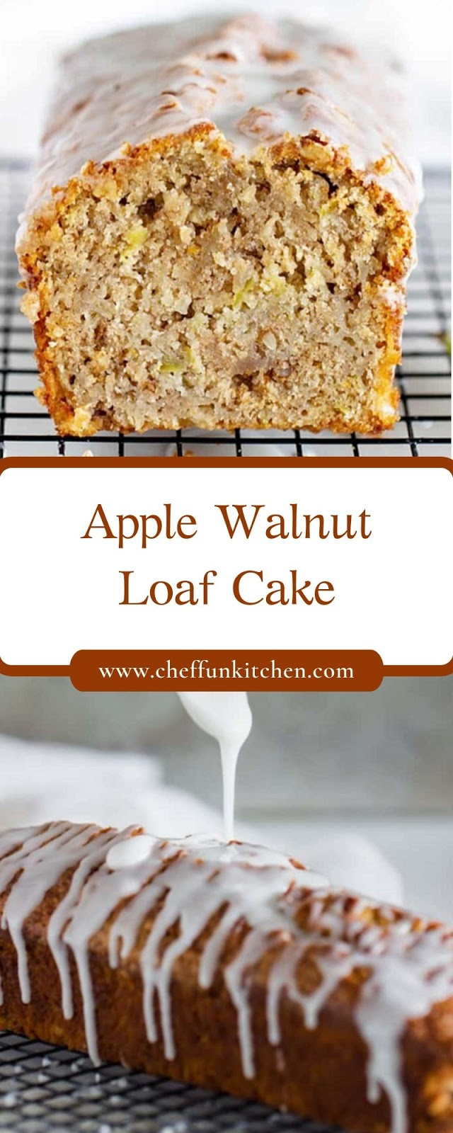 Apple Walnut Loaf Cake