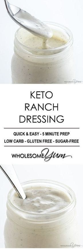 Low Carb Keto Ranch Dressing (Quick & Easy)