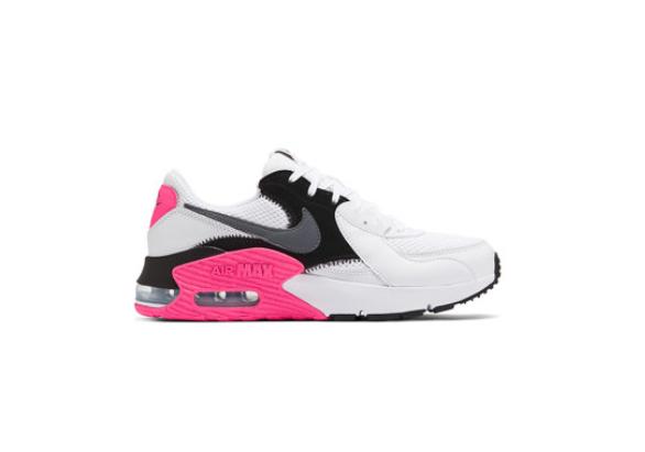 Nike Pantofi adidasi femei cu piele intoarsa si model colorblock Air Max Excee