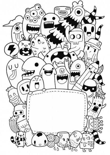Gambar doodle mudah