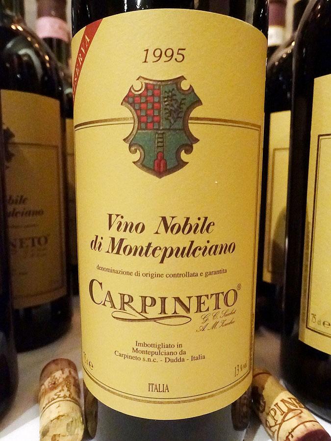 Carpineto Vino Nobile di Montepulciano Riserva 1995 (92 pts)