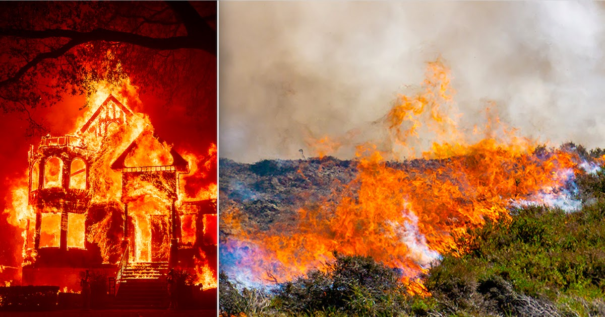 Wildfires Raging In California Are Set To Be The Third Worst In The State's History As The Fight To Contain The Infernos Continues