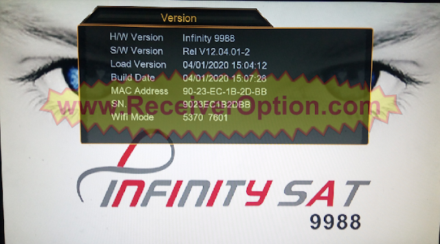 INFINITY SAT 9988 1507G 1G 8M NEW SOFTWARE WITH DLNA OPTION