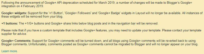 GOOGLE PLUS SHUTDOWN NEWS FOR BLOGGERS
