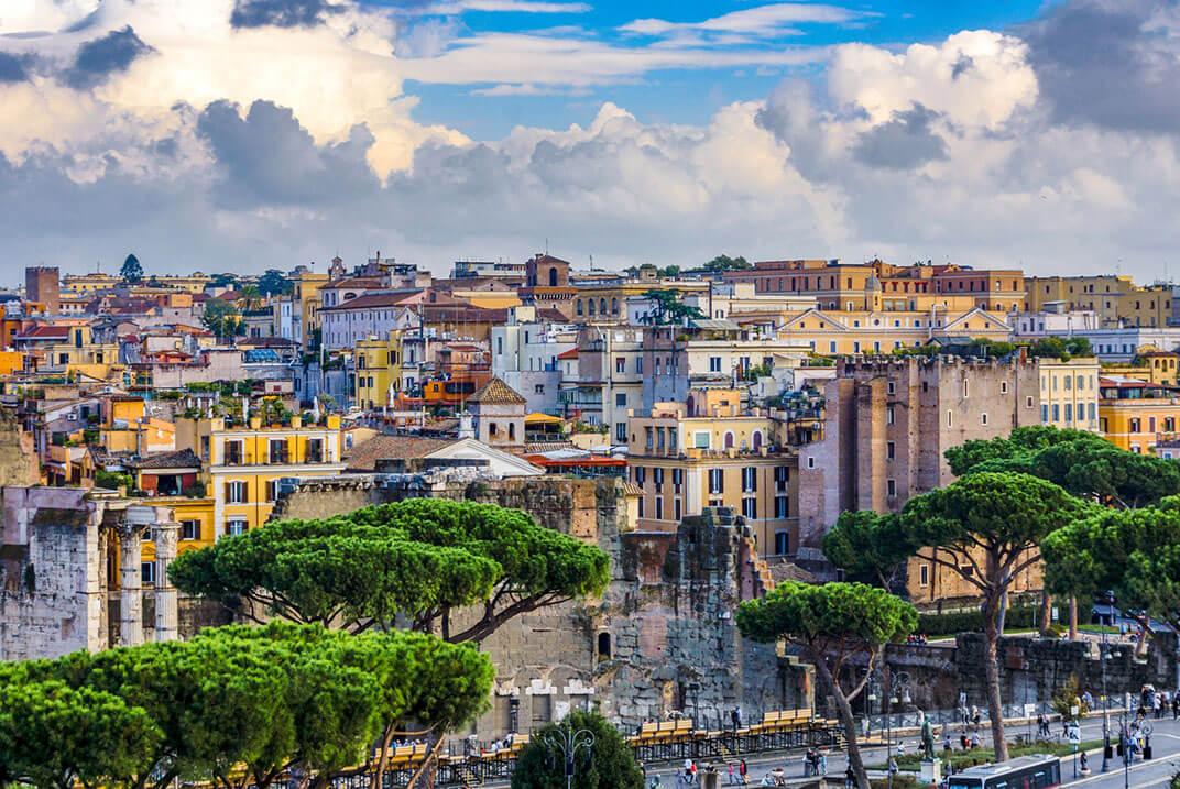 Roma en cuatro días vista