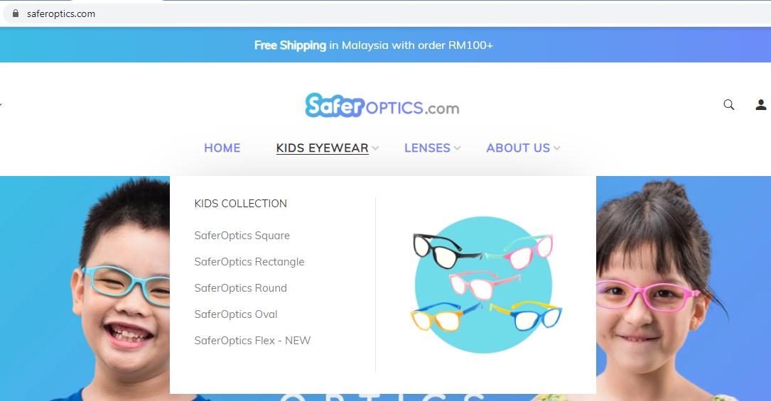 Beli Safer Optics Anti Blue Light Eye Wear Atas Talian