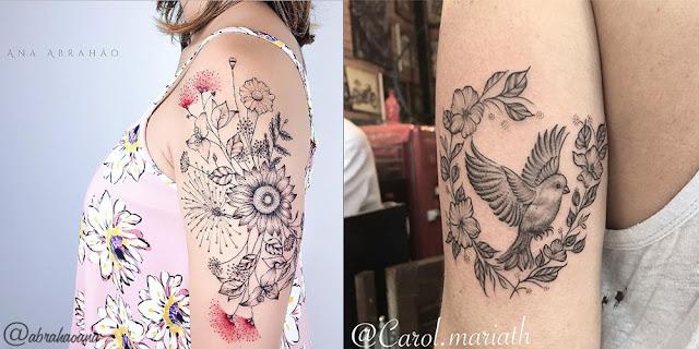 Tatuagens florais para se inspirar