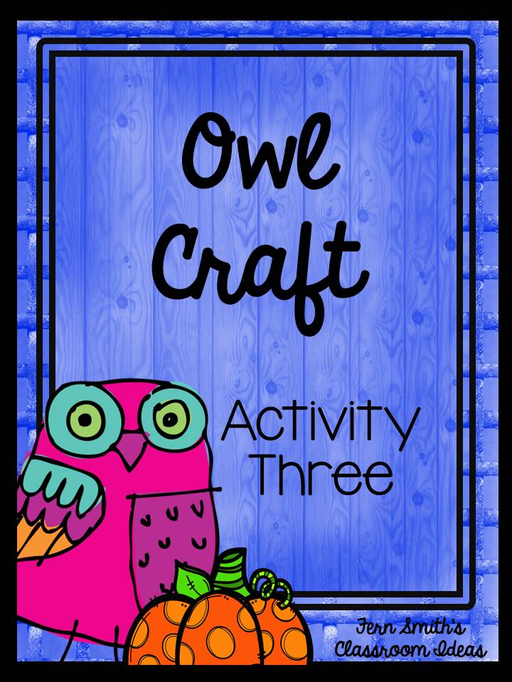 Fern Smith's Classroom Ideas: Tuesday Teacher Tips: Can't Celebrate Halloween At School? Throw an Owl Party Instead!