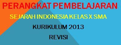 RPP Sejarah Indonesia SMA Kelas X Kurikulum 2013 Revisi