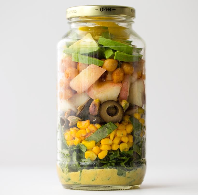 Freshly Picked Summer in a Jar Salad