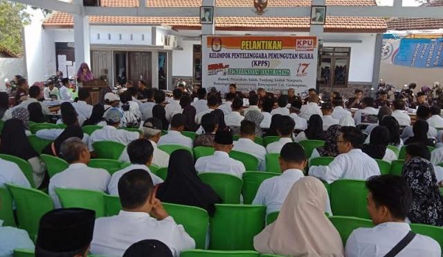 Pelantikan Ketua KPPS di Lumajang