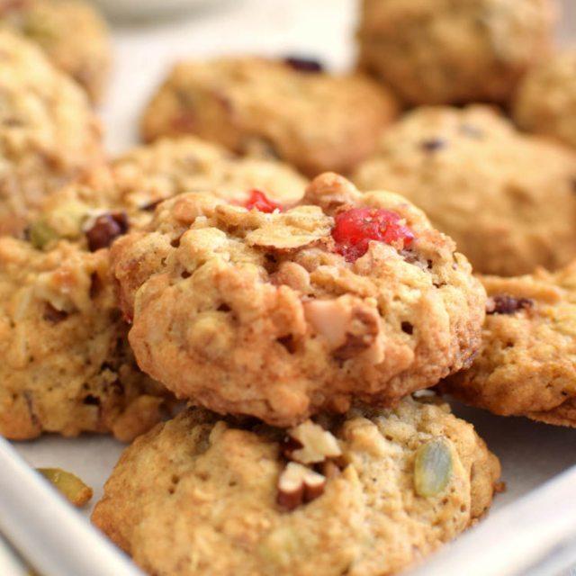Receta para preparar galletas de avena con varios sabores