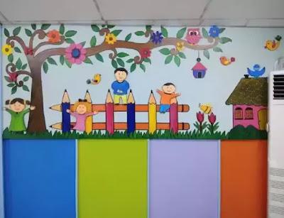 Desain Bunga untuk dekorasi dinding kelas