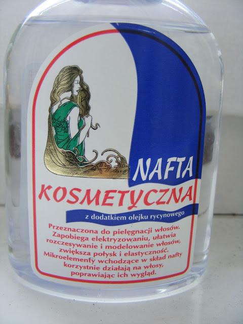 Nafta kosmetyczna z dodatkiem olejku rycynowego