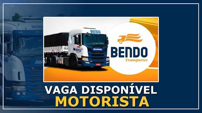 Bendo Transportes abre vagas para Motorista